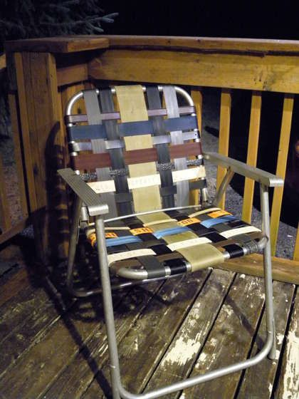Swell Refurbished Folding Lawn Chair With Repurposed Materials Uwap Interior Chair Design Uwaporg