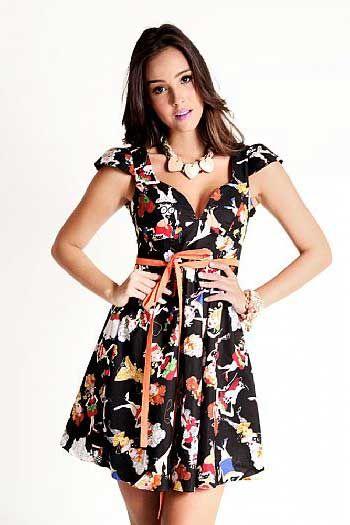 7c6fa28d8 Modelos de Vestidos Floridos Curtos e Longos para o Dia a Dia