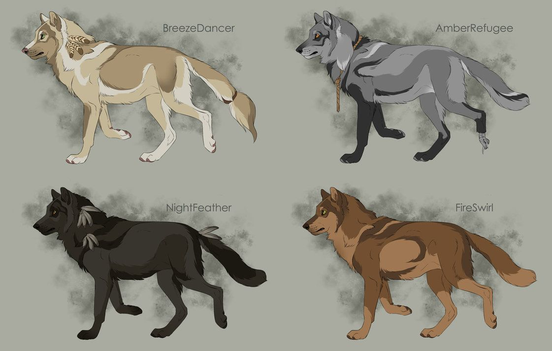Semi-Realistic Wolf Adoptables 2 - CLOSED by Therbis on DeviantArt