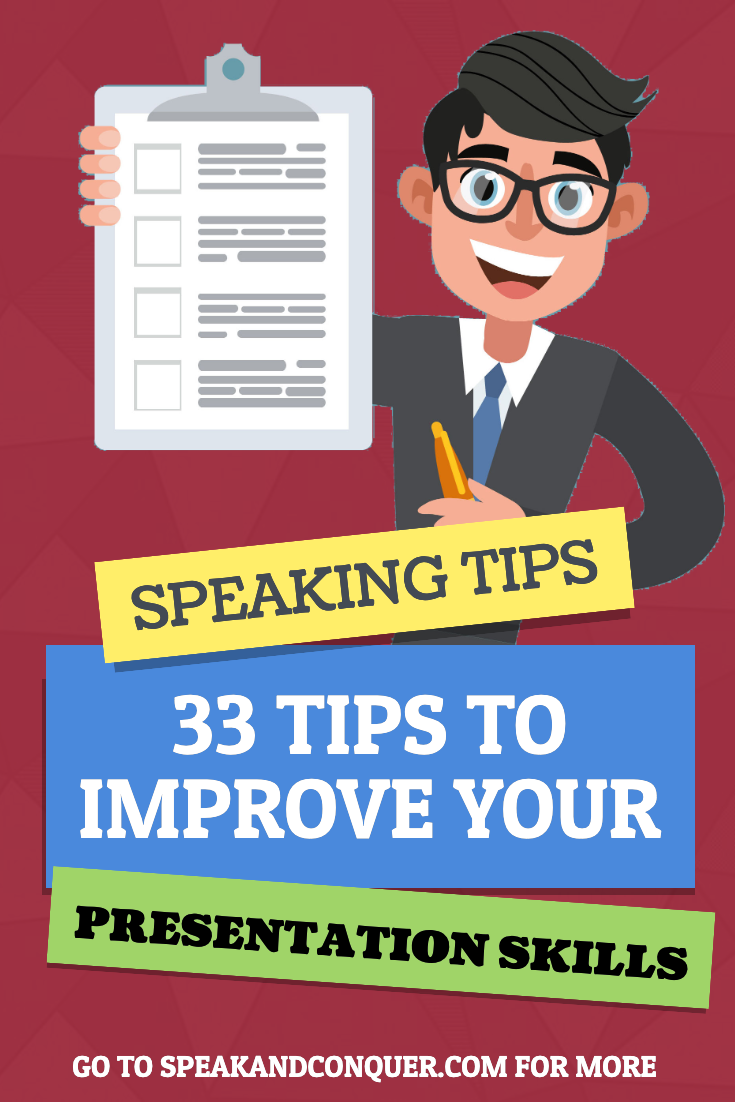 33 Tips To Improve Your Presentation Skills A Helpful Guide This Post Will Highli Presentation Skills Public Speaking Activities Presentation Skills Training