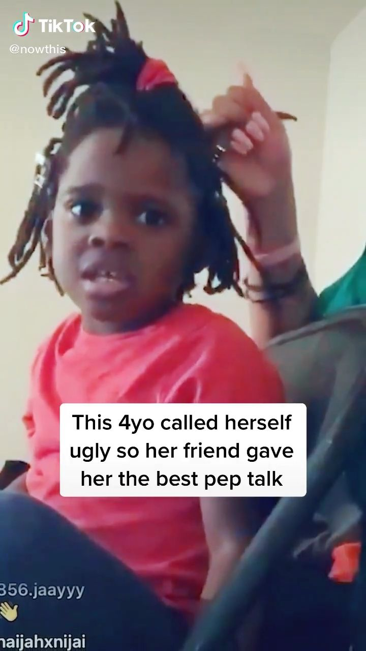 """Photo of This beautiful 4 yr old said she's """"so ugly."""" So her friend set her straight."""