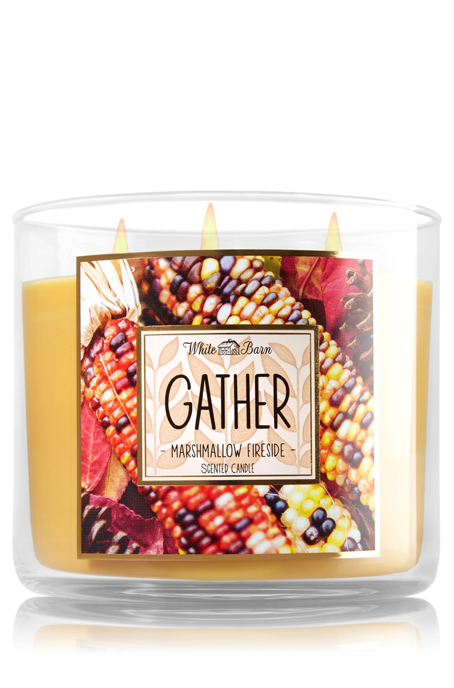 Gather Marshmallow Fireside 3 Wick Candle Home Fragrance