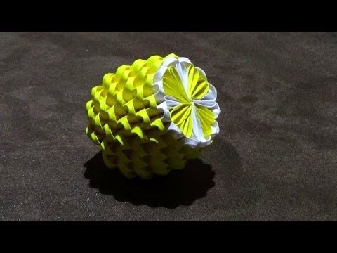 How To Make a 3D Origami Lemon - YouTube