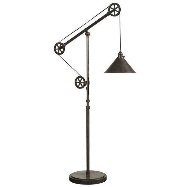 Pottery barn cfl warren pulley metal task floor lamp 379 found on pottery barn cfl warren pulley metal task floor lamp 379 found on polyvore featuring mozeypictures Image collections