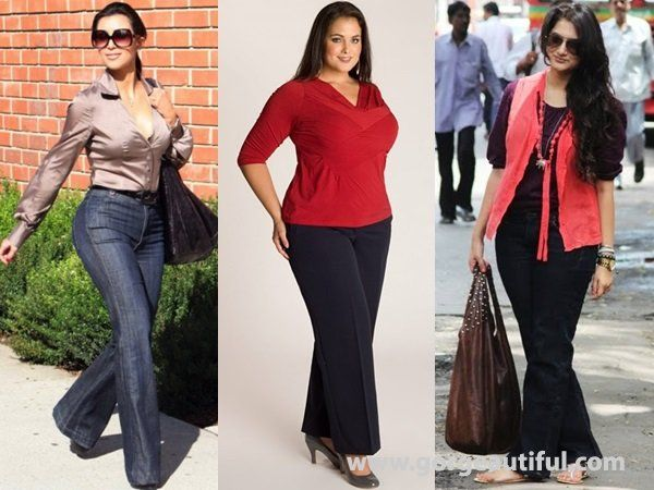Flare Pants Fashion For Hourglass Body Shape Women Body