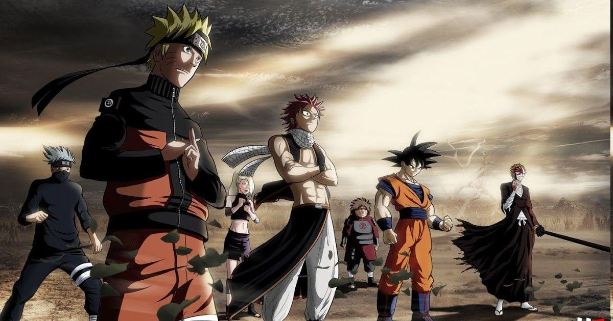 Pin On Hd Anime Wallpapers Background anime crossover wallpaper