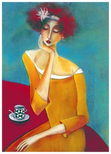 kate smith | pensive thought, pastel