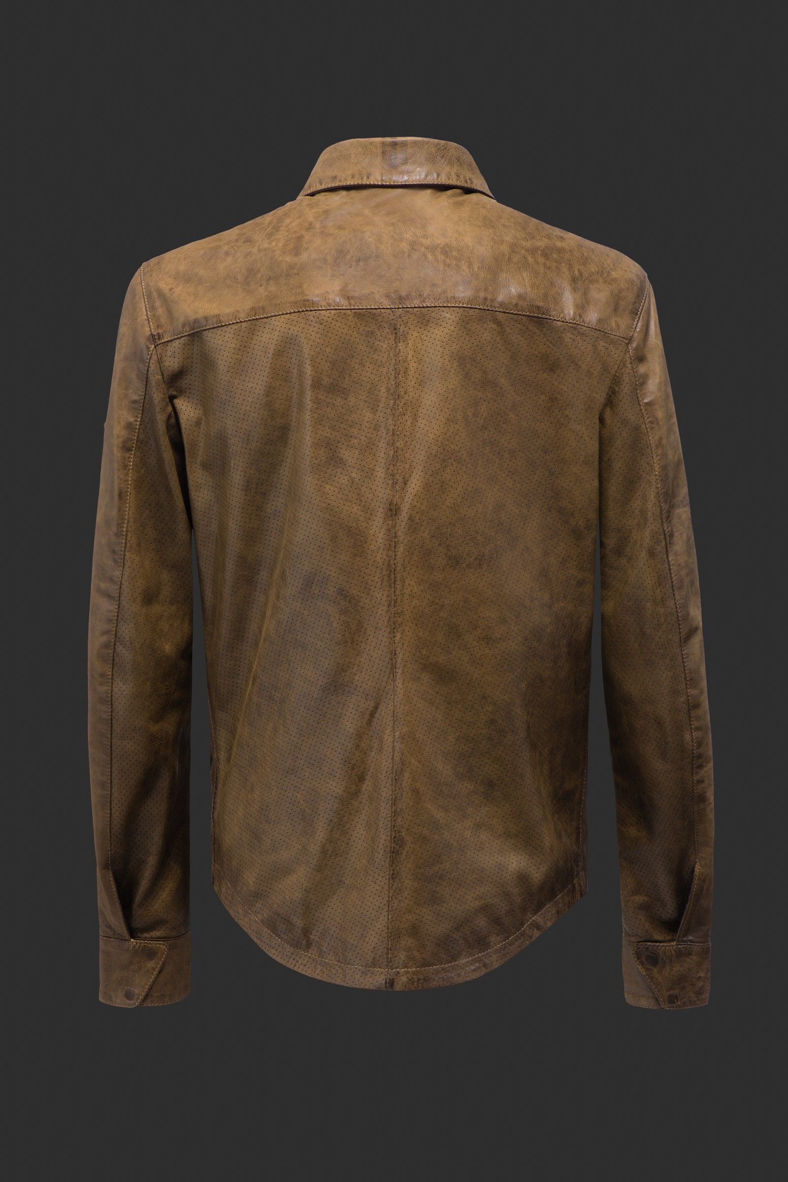 Classic Jacket Made Of Matchless Leather With Shirt Neck Collar