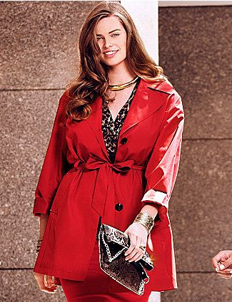 Pin On For Mom, Red Trench Coat Women S Plus Size