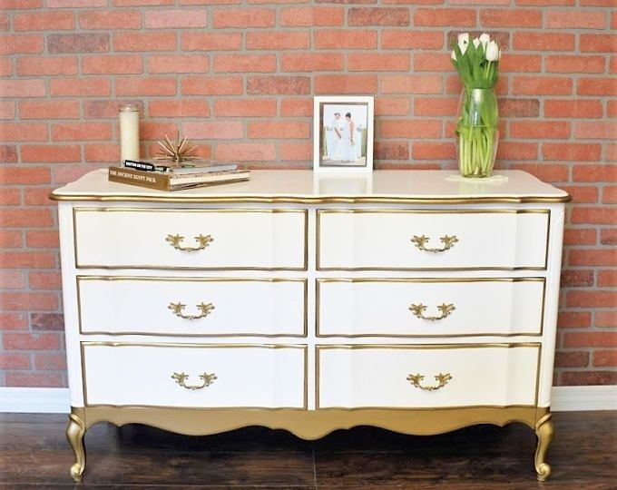 SOLD - SOLD Gold French Provincial Dresser in 2020 ...