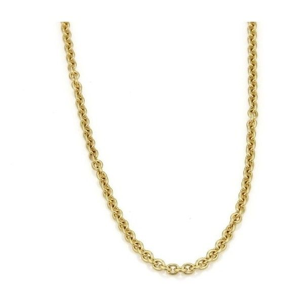 Pre-owned Bulgari 18K Yellow Gold Oval Link Chain Necklace ($2,150) ❤ liked on Polyvore featuring jewelry, necklaces, long necklaces, gold chain necklace, gold chain link necklace, oval link chain necklace and yellow gold necklace
