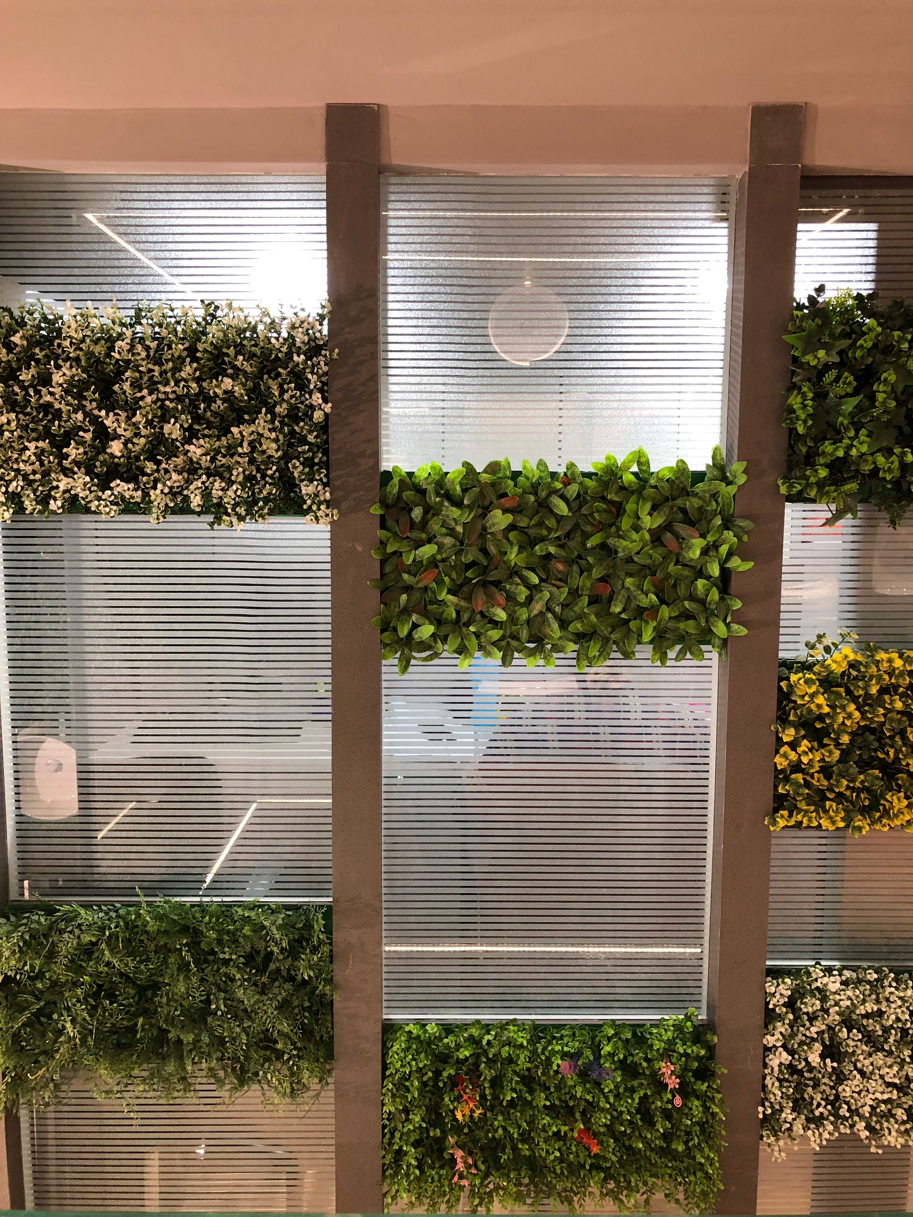 Partition Grass Glass Privacy Inspiration Officewall