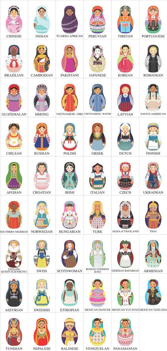 Ukrainian Girl Matryoshka Magnet by AmyPerrotti via Etsy.