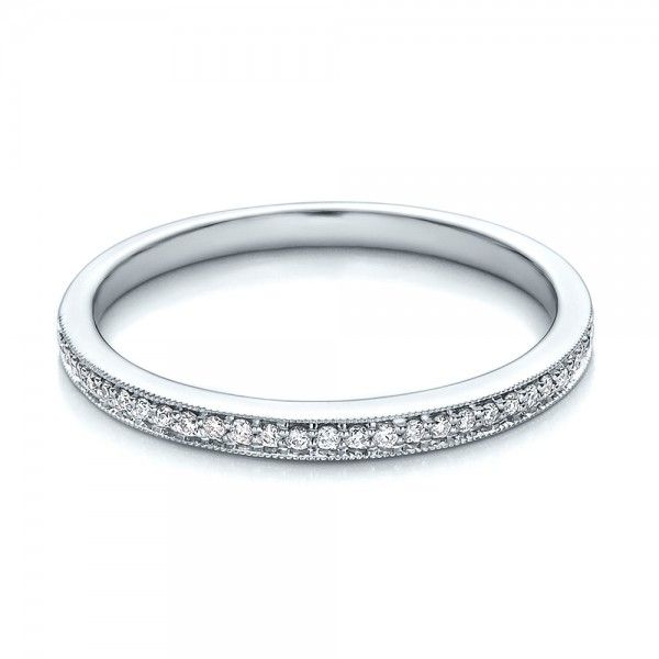 Bright Cut Diamond Wedding band