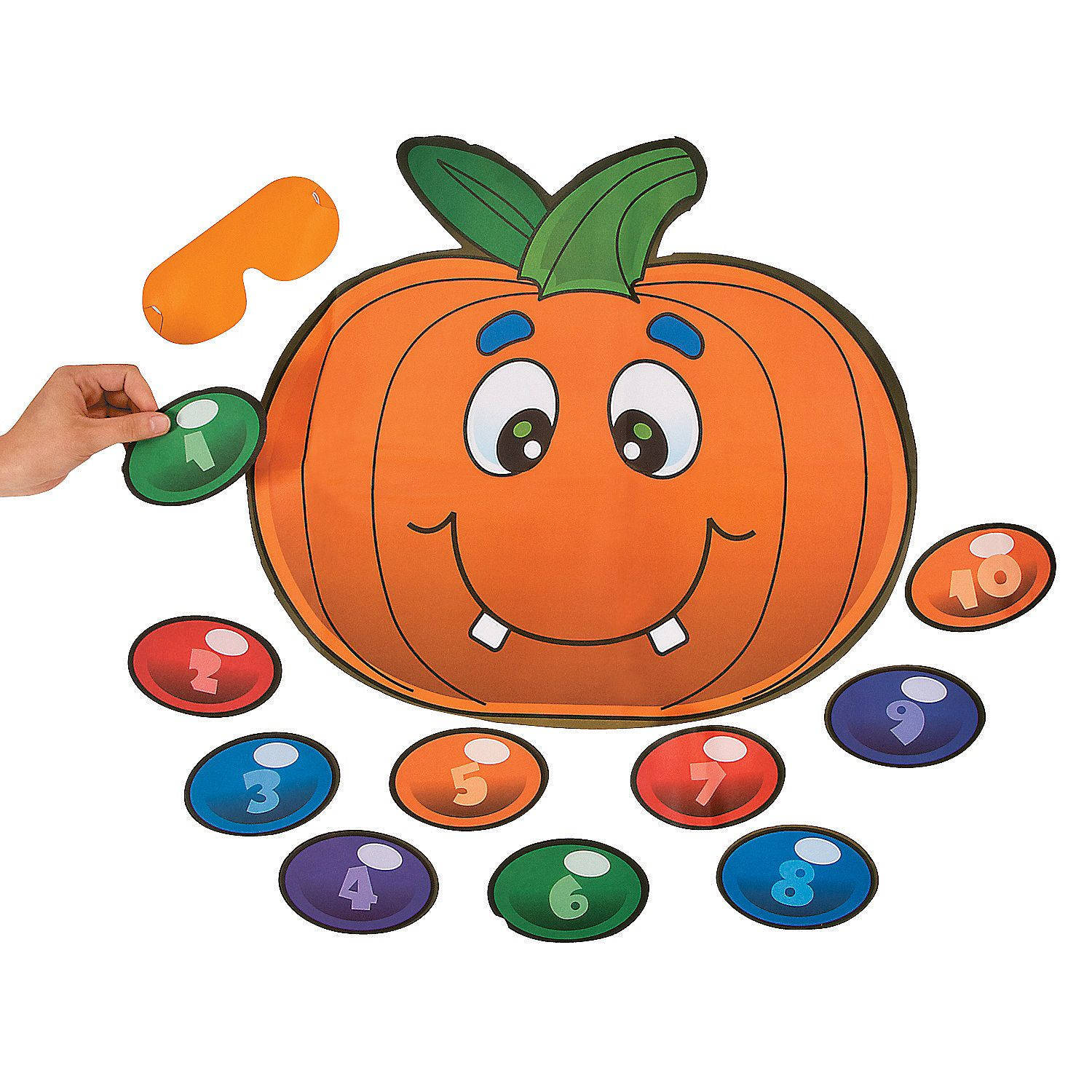 Silly Pin the Nose on the Pumpkin Game - OrientalTrading.com $4 ...