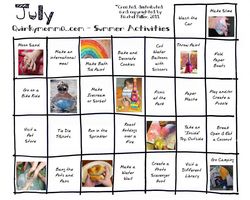 Calendar Ideas For Kids : Activity calendars