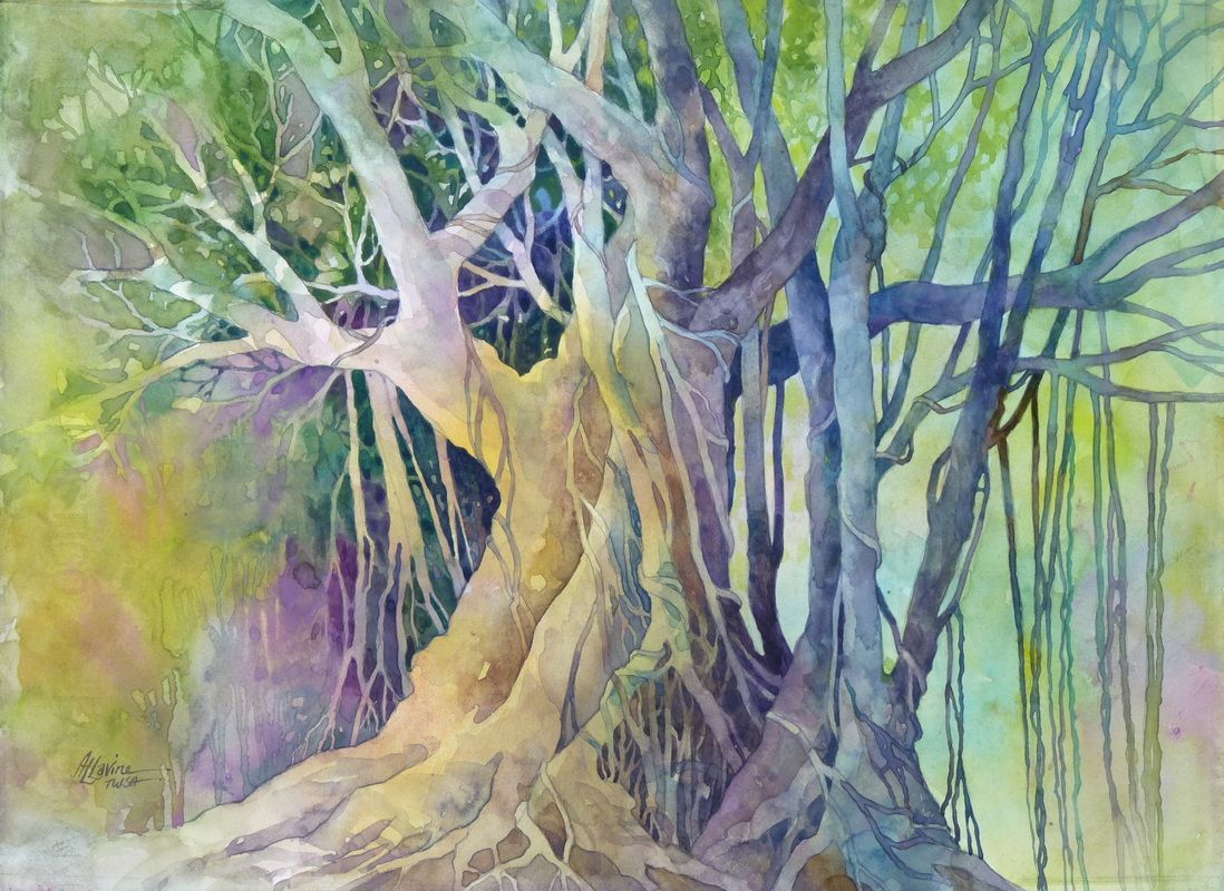 Rain Forest Royalty By Alexis Lavine Watercolor On Hot Pressed