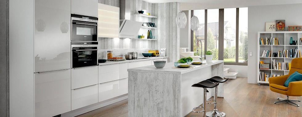 Greeploze Keuken Ixina : Ixina cuisine blanche avec îlot central A découvrir