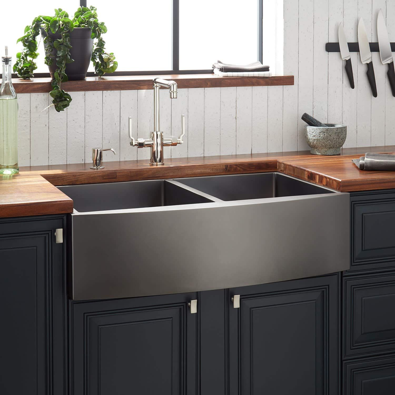 Black Farmhouse Sinks Farmhouse Goals In 2020 Stainless Steel Farmhouse Sink Stainless Steel Kitchen Sink Kitchen Style