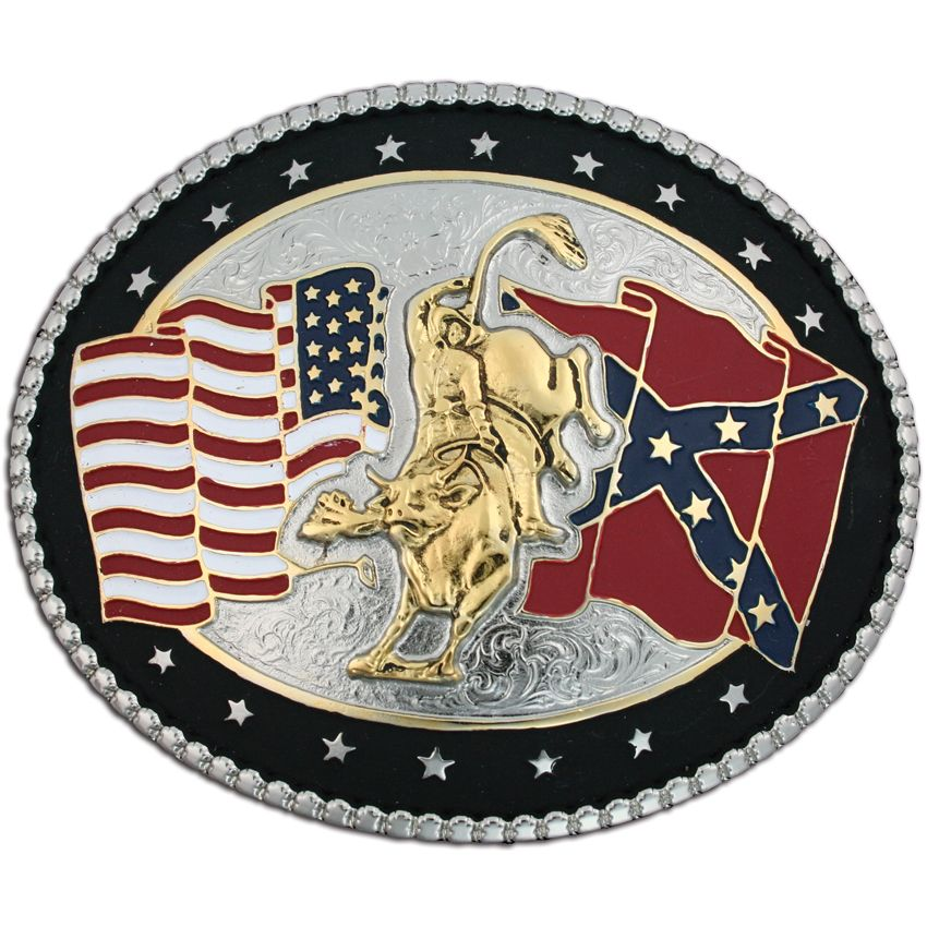 Montana Silversmiths Bull Rider And Flags Belt Buckle Bull Riders Country Belt Buckles Belt Buckles