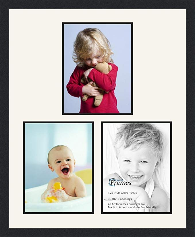 Arttoframes Collage Photo Frame Double Mat With 3 10x13 Openings