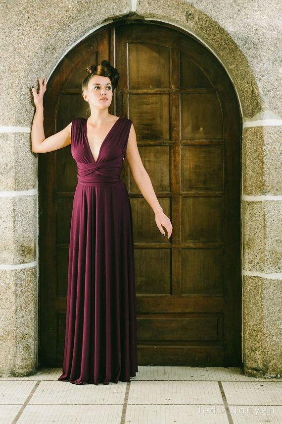 DressWedding Infinity Dress Bridesmaid Long Marsala LA4Rq35cj