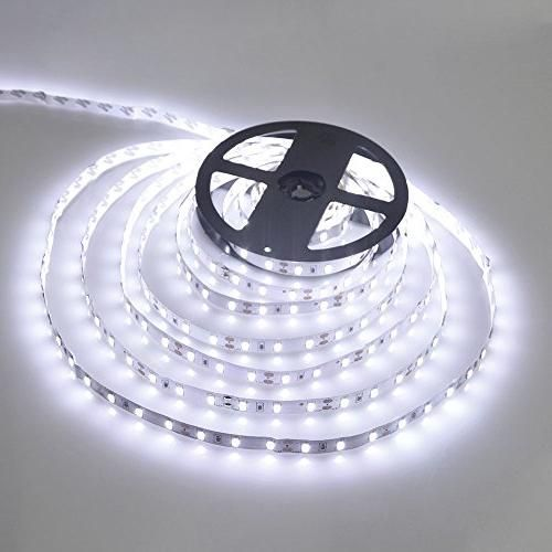 Wentop waterproof led strip lights smd 3528 164 ft 5m 300leds wentop waterproof led strip lights smd 3528 164 ft 5m 300leds 60ledsm white flexible rope lighting tape lights in dc jack for boats bathroom mirror aloadofball Image collections