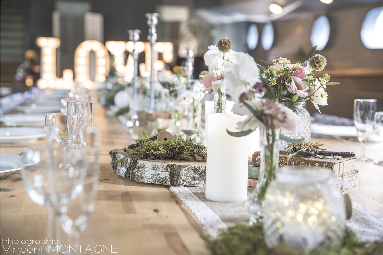 Centre De Table Pour Une Decoration Rose Poudre Douce Et