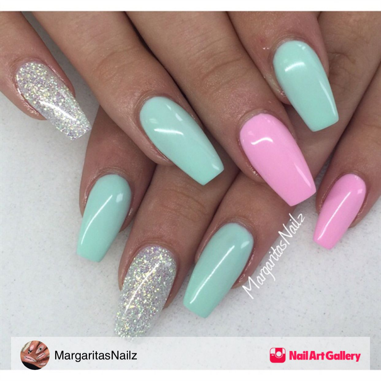 Summer nails by margaritasnailz via nail art gallery - Pinterest nageldesign ...