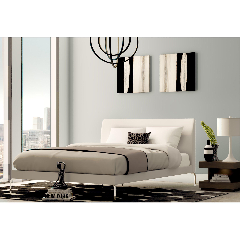 Drew Queen Upholstered Platform Bed | Upholstered platform bed ...