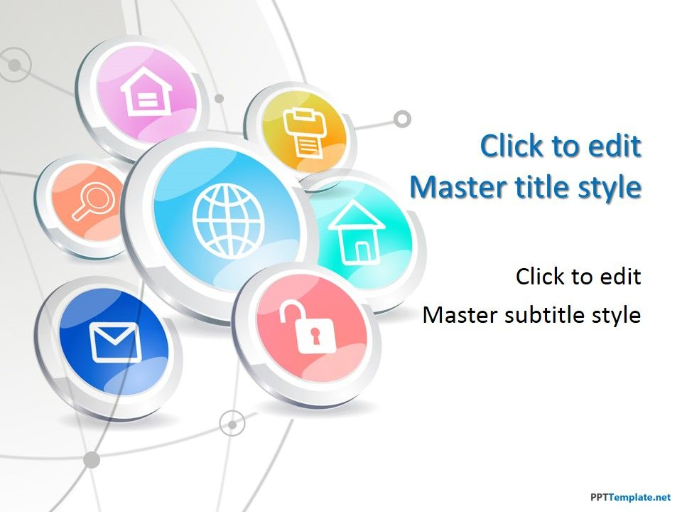Free+Tech+Buttons+PPT+Template Technology PPT Templates - powerpoint presentations template