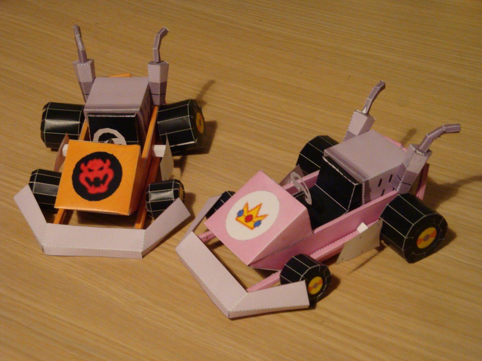 Mario Kart Bowser And Peach Kart Free Paper Models Paper Models Paper Crafts