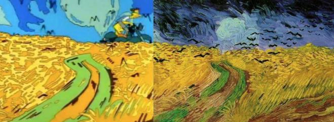 Campo de trigo con cuervos