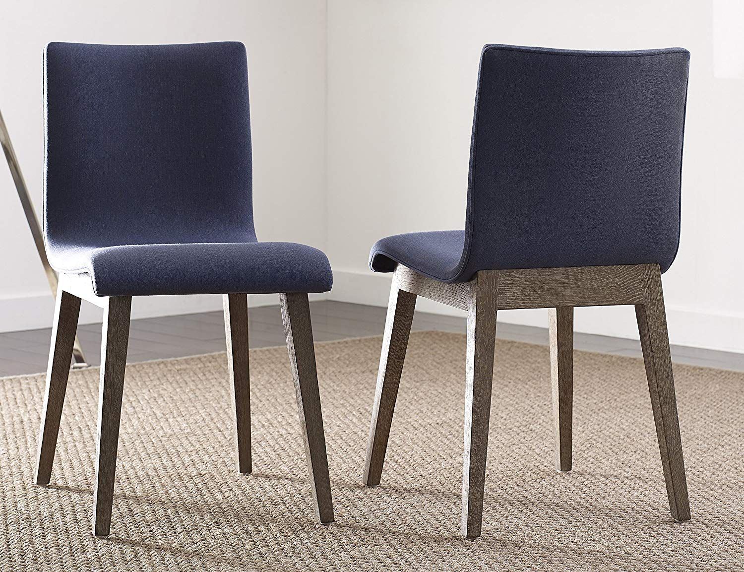 Tommy Hilfiger Mankato Dining Chair With Tapered Light Oak Legs In