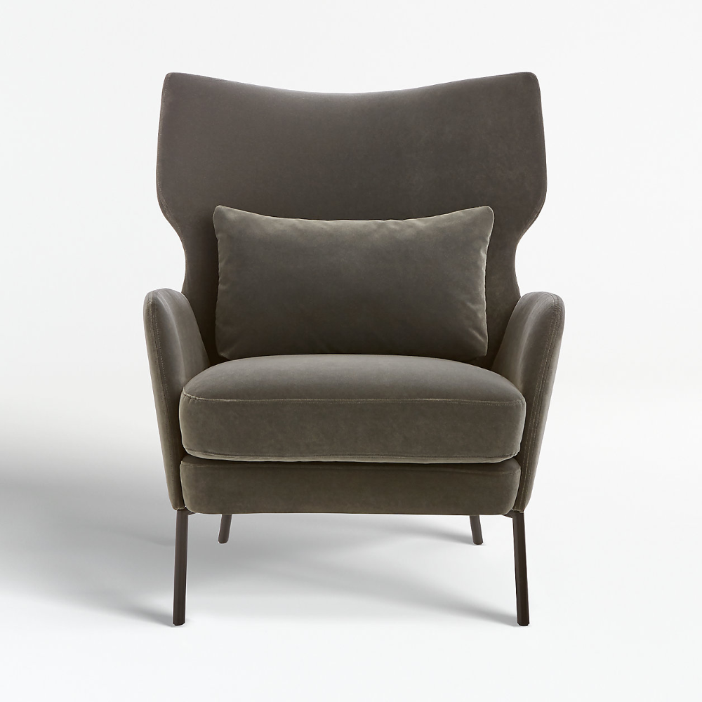 Alex Grey Velvet Accent Chair Reviews Crate And Barrel Canada Velvet Accent Chair Accent Chairs Stylish Chairs