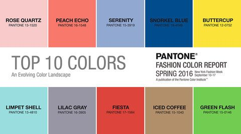 In Celebration Of The Spring 2016 Pantone Colors