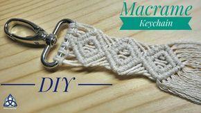 Macrame Keychain DIY - Macrame Key Hanger Tutorial / Macrame Pattern 1