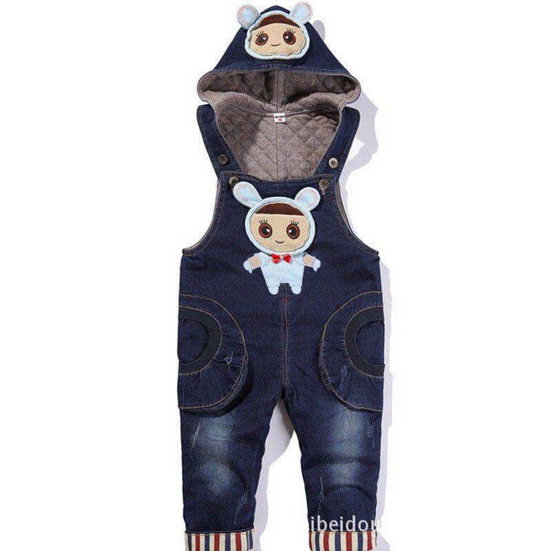 8cb9e46a41 Pantalones · Mamelucos · 2016 Del Otoño Del Resorte Del Bebé Niñas niños  Overol de Mezclilla Mono de 1 3