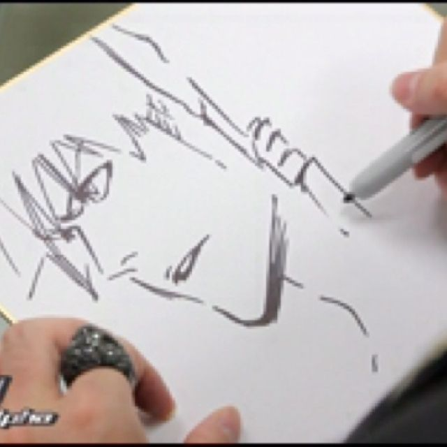 Tite Kubo drawing Ichigo Kurosaki