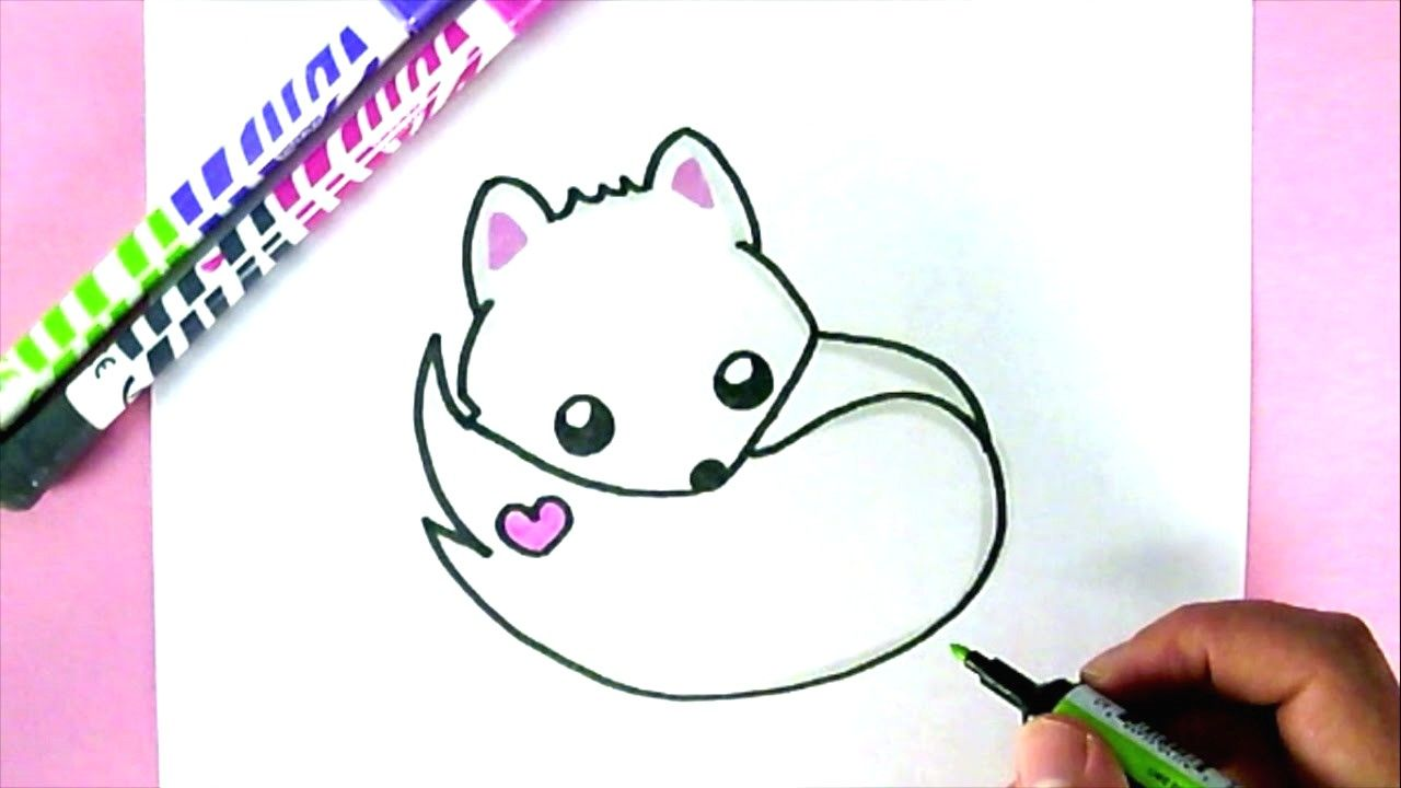 Comment Dessiner Un Renard Blanc Kawaii Dessin Facile
