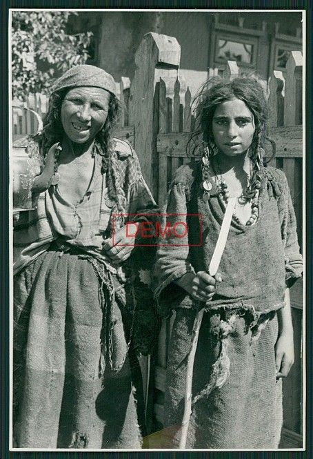 Romani gypsies Ukraine WWII The one on the right | Old Photographs