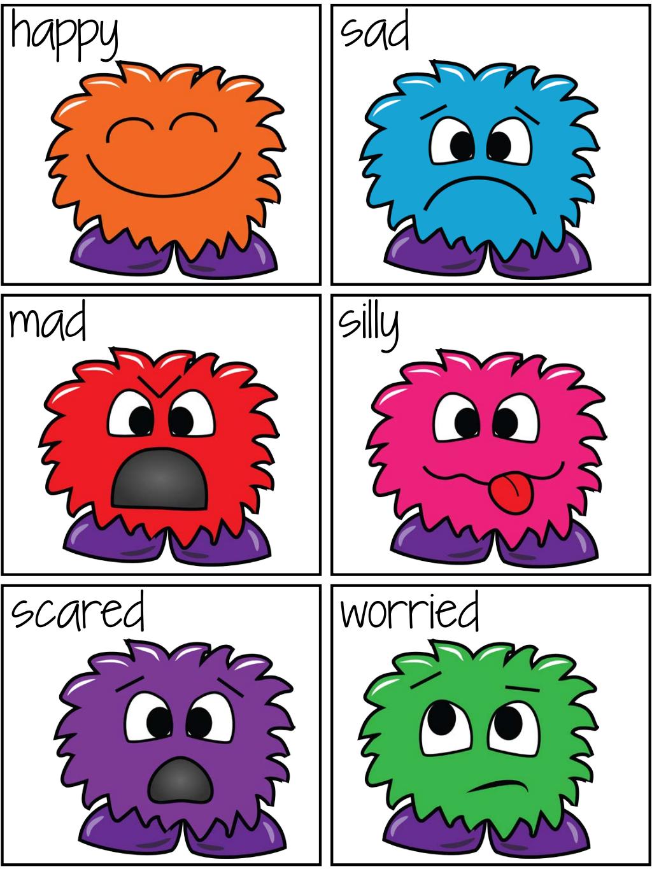 Feeling Monster Freebie Pocket Of Preschool Pdf Google