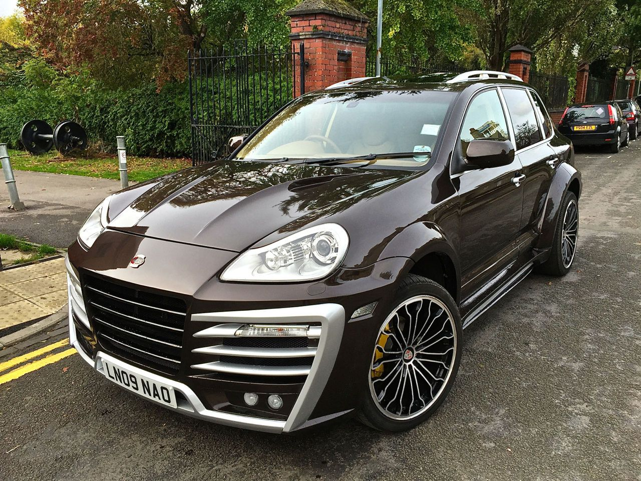 2009 957 porsche cayenne techart magnum tiptronic s brown 1 owner 32 000mil cars. Black Bedroom Furniture Sets. Home Design Ideas