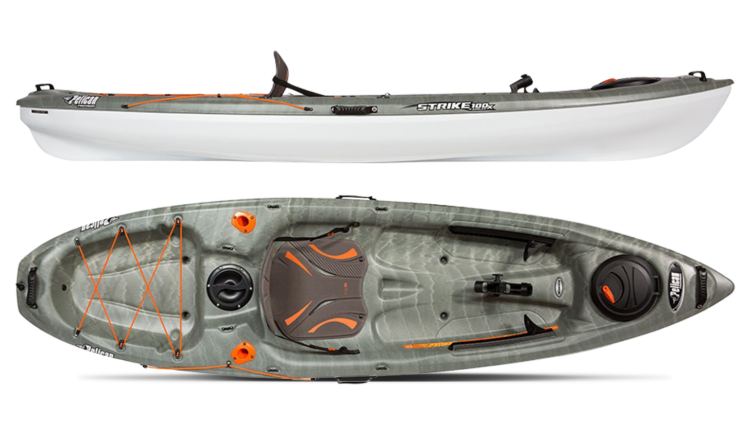 The Pelican Premium Strike 100x Angler Is A Simple And Easy To Paddle Kayak For The Discriminating Fisherman Built On A Multi Chine Flat Bottom Hull This