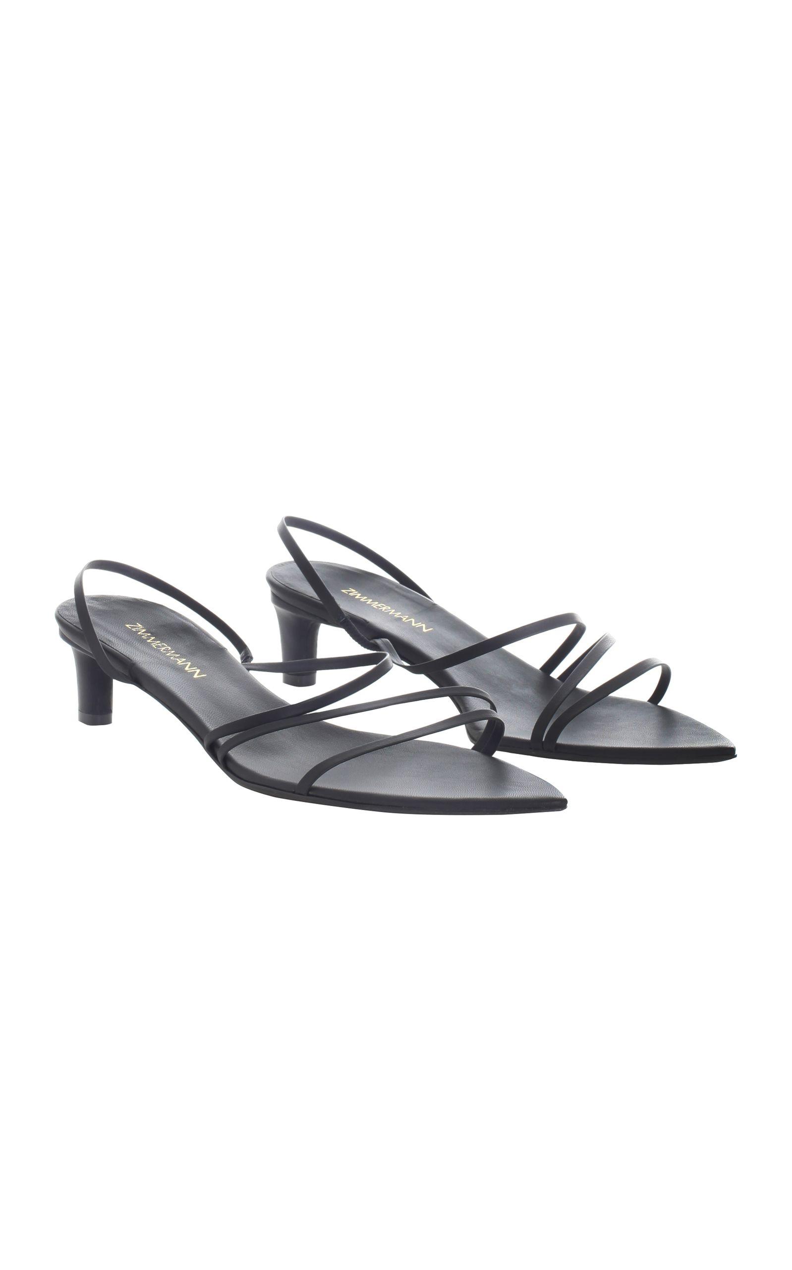 Zimmermann Kitten Heel Kitten Heels Heels Black Strappy Shoes