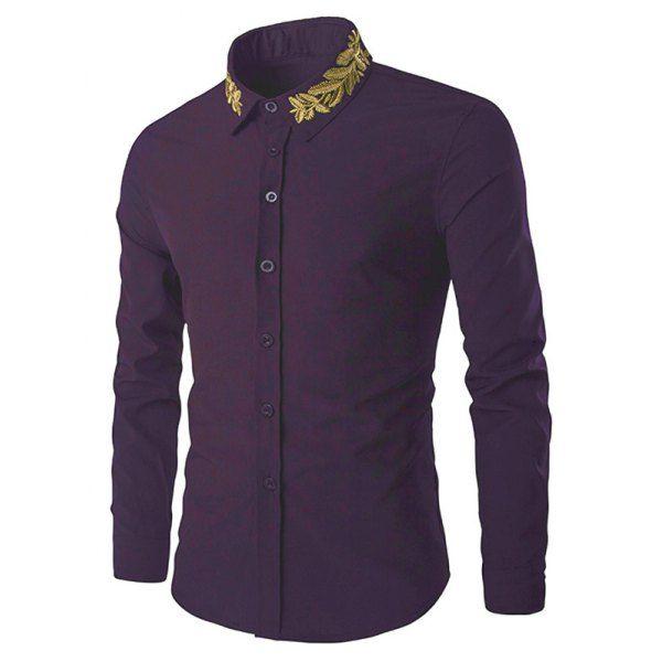Online Cheap Wholesale 2017 Mens Embroidery Shirt Long Sleeve Black White  Dress Shirt Party Club Party Flower Shirt M 2xl By Xiatian6 | Dhgate.Com