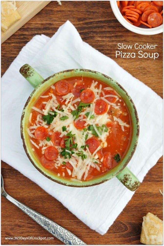 Crockpot Pizza Soup