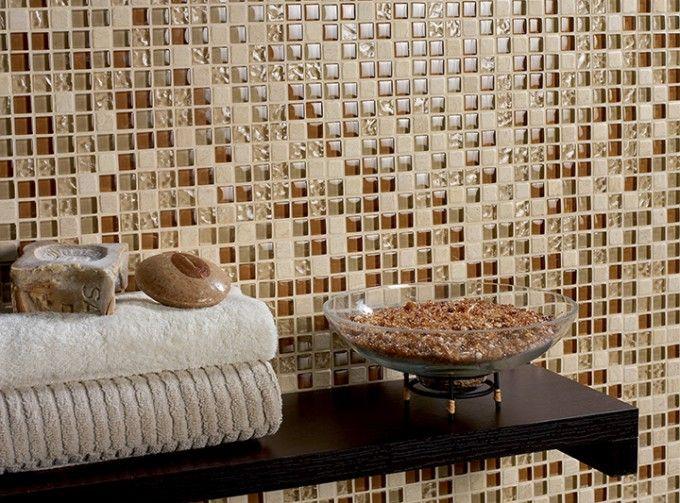 bagni moderni mosaico beige - cerca con google | bagno style ... - Bagni Moderni Mosaico