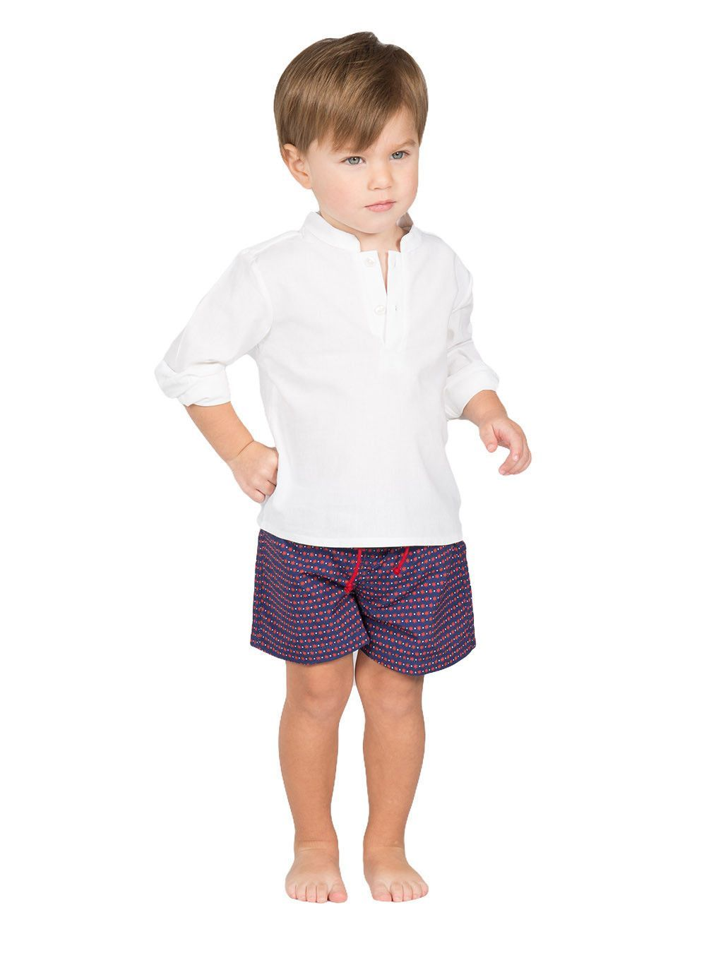 Boy's White Mao Shirt