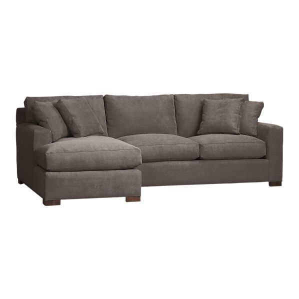 Axis 2 piece left arm chaise sectional in gray sectional for 2 arm chaise lounge